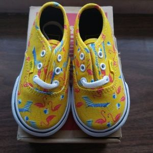 6145a681db4 Kids  Flamingo Vans on Poshmark